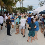 Crowd at a Key West political event.